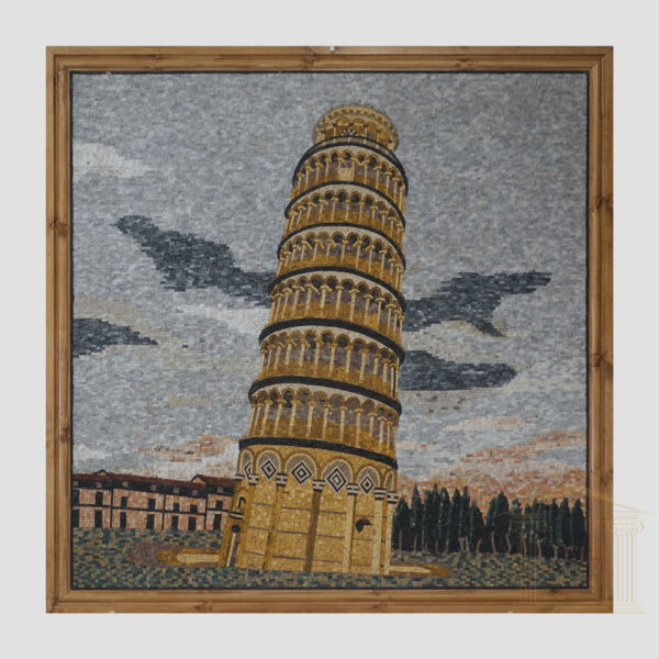 The Leaning Tower of Pisa Marble Stone Mosaic Art
