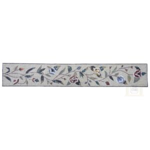 Decorative Floral Mosaic Border Marble Stone