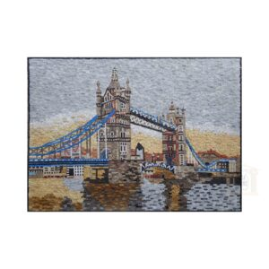 Sunset Over The Tower Bridge Marble Stone Mosaic Art