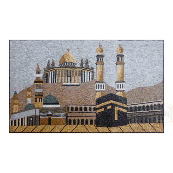 Islamic Kaaba Marble Stone Mosaic Art