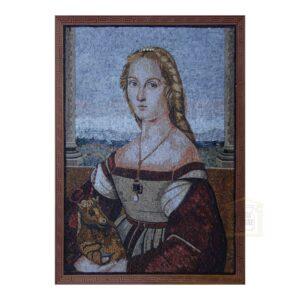 Dama Col Liocorno Marble Stone Mosaic Art