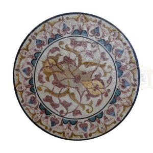 Style 1 Circular Ornamented Marble Stone Mosaic Art