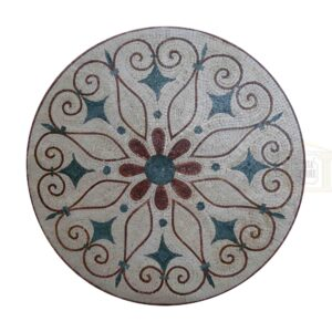 Style 2 Circular Ornamented Marble Stone Mosaic Art