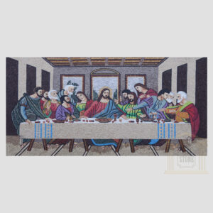 The Last Supper / Il Cenacolo Marble Stone Mosaic Art