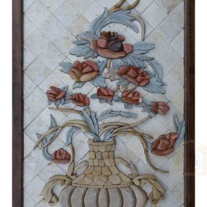 Briar rose in royal vase 3D Mosaic Art