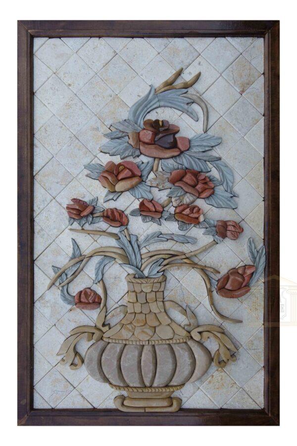 Briar rose in royal vase 3D Mosaic Art