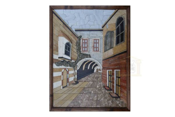 Through The Alley of Damascus old town 3D Mosaic Art
