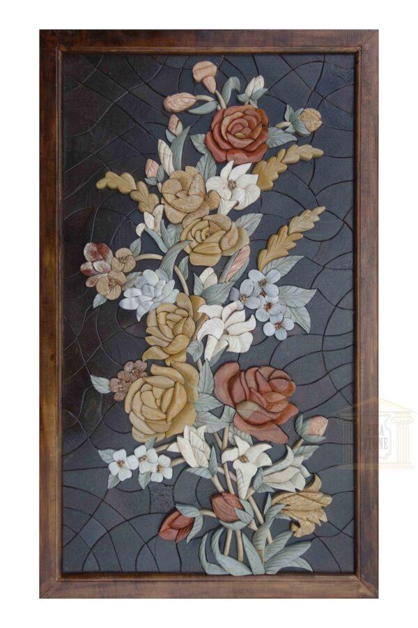 Unique 3D Mosaic Flower Bouquet in the Dark