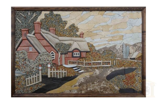 The old cottage in 3D Mosaic Art