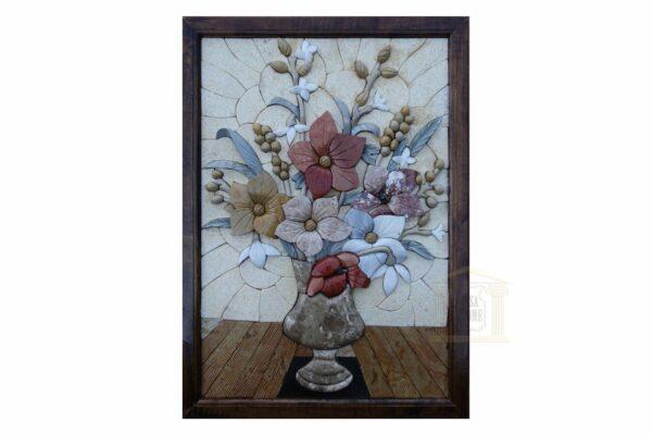 Left Table Flower Vase 3D Mosaic Art