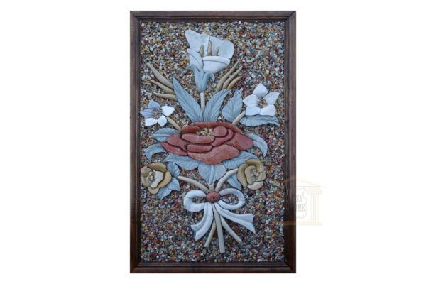 Rose In the Middle 3D Mosaic Art