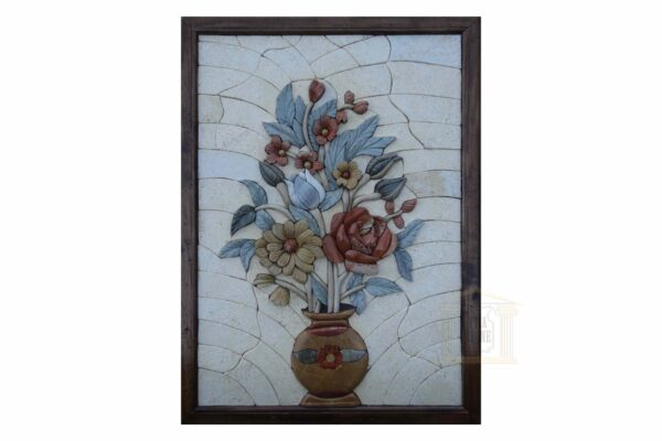 Red and Yellow Roses 3D Mosaic Art