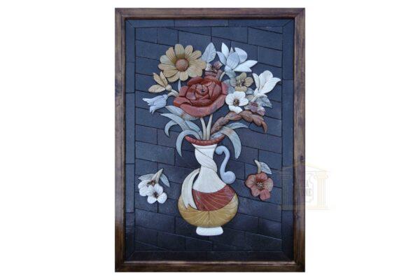 Left Musical Flower Vase 3D Mosaic Art