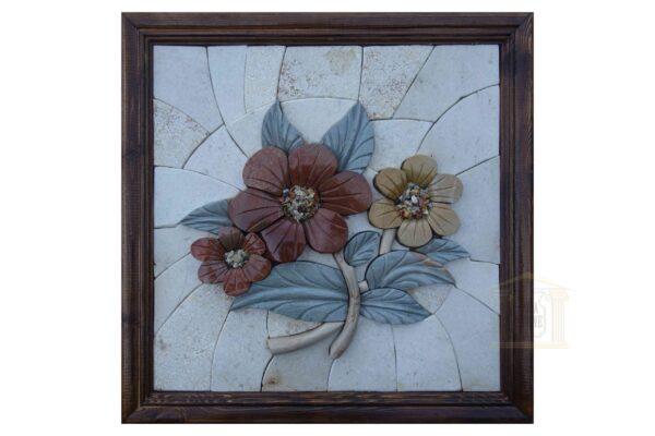 The Three Roses (Right) 3D Mosaic Art