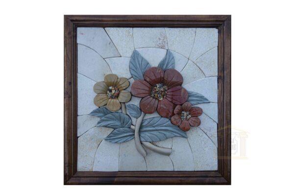The Three Roses (Left) 3D Mosaic Art