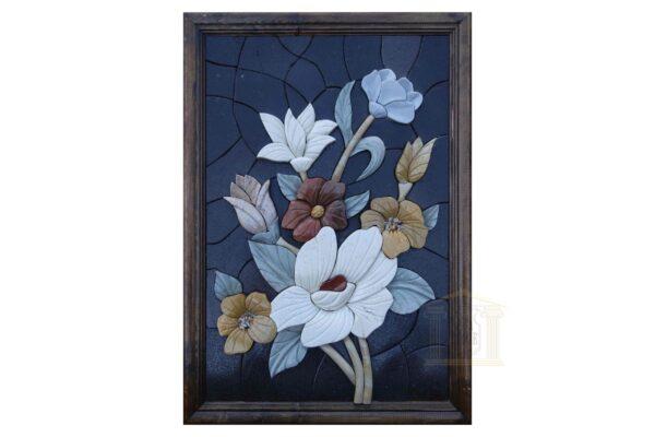 Night Blooming Flowers (Left) 3D Mosaic Art
