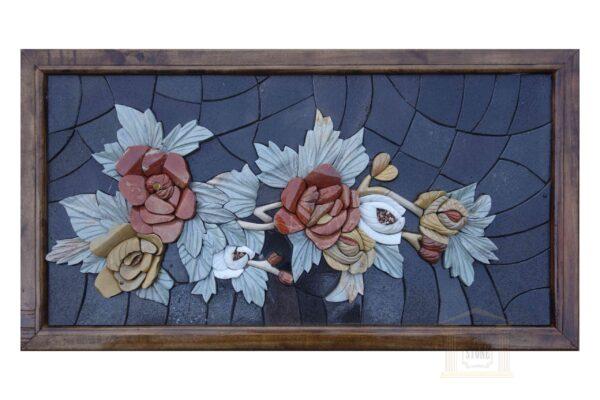 Strip of Roses 3D Mosaic Art