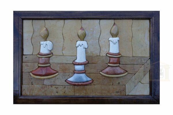 The three candles 3D Mosaic Art