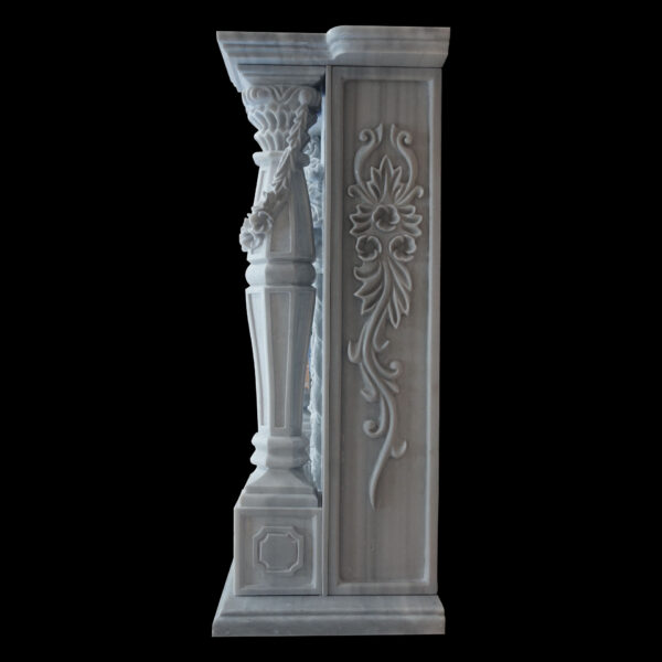 Grey Marble Fireplace