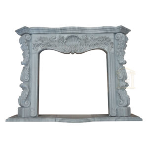Matt Grey Marble Fireplace