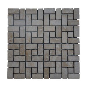 Crema Marfil Brushed Antique Limestone Mosaic Tiles