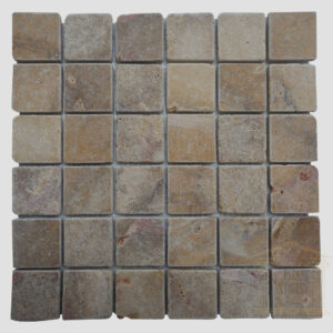 Dark Brown Rustic limestone wall mosaic tile