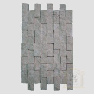 White Split Face limestone Mosaic wall tiles