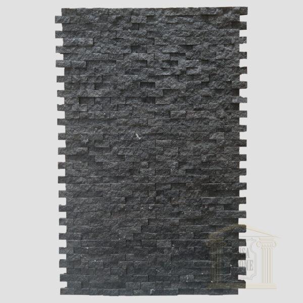 Black Split Face Basalt Mosaic wall tiles