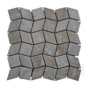 Crema Marfil Split Face Limestone Mosaic tiles