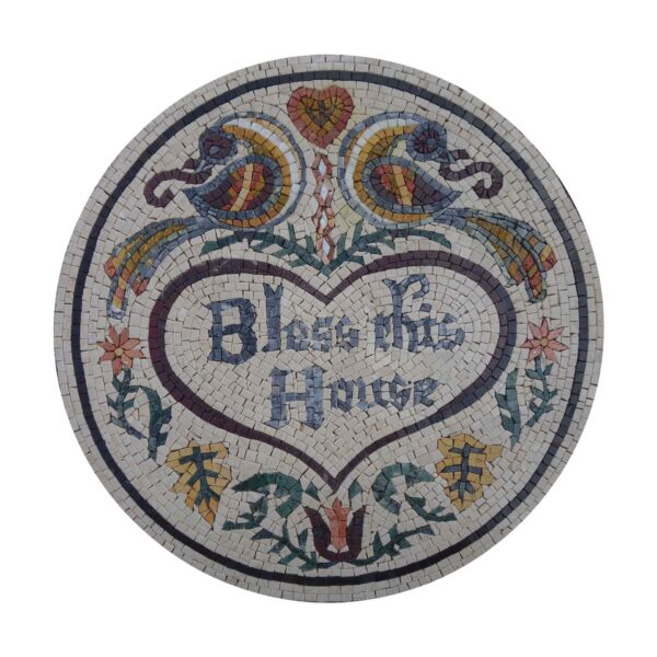 Bless This House Marble Stone Mosaic Art