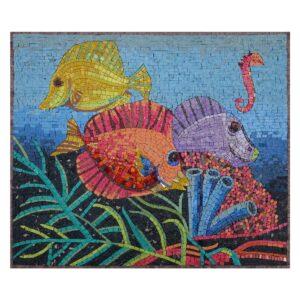 Underneath The Ocean Marble Stone Mosaic Art