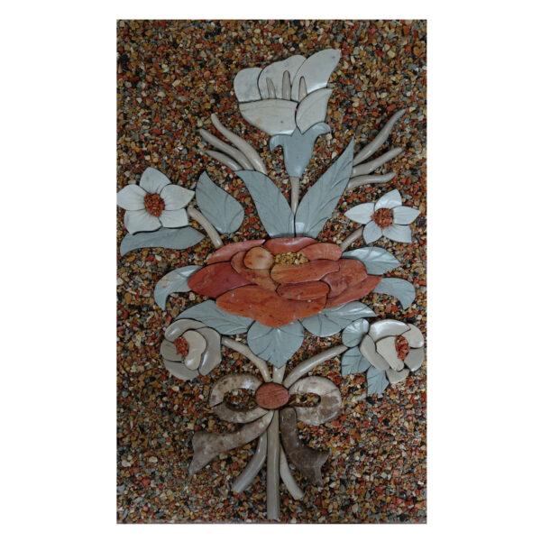 Multicoloured Background Marble Stone Mosaic Art