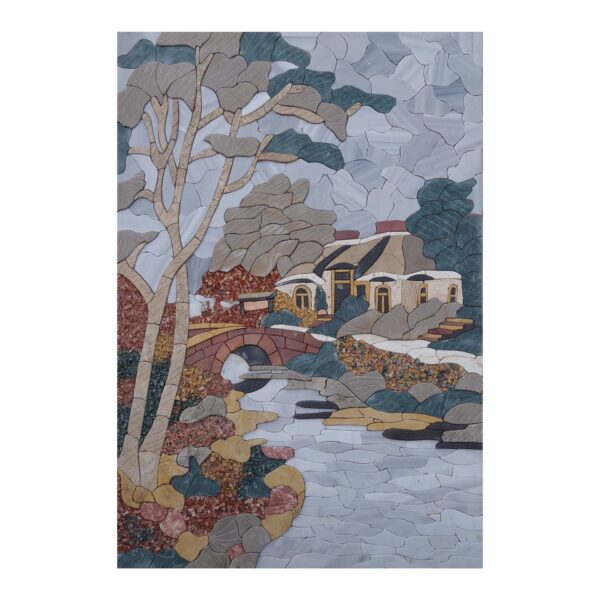 Next To The River Marble Stone Mosaic Art