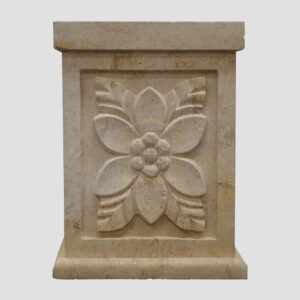 Matt Light Yellow Limestone Urn Garden
