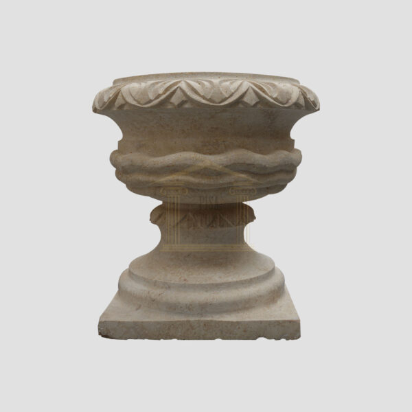 Matt Light Yellow Limestone Urn Garden 1 Smart Stone urns, planters, vases