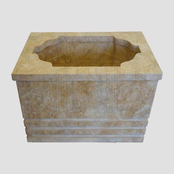 Mattt Dark yellow Limestone Urn Garden 3 Smart Stone urns, planters, vases
