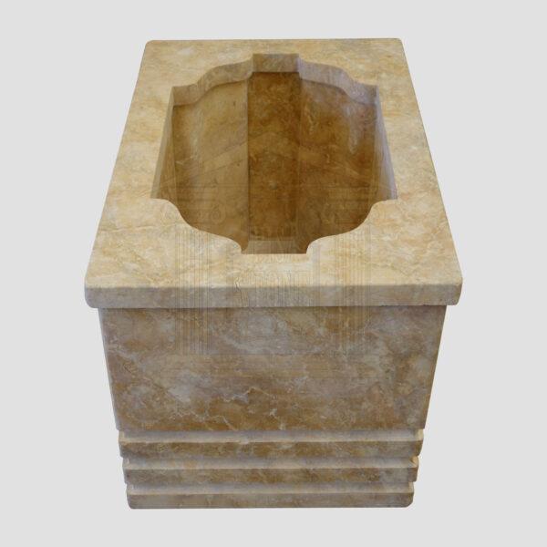 Mattt Dark yellow Limestone Urn Garden Smart Stone urns, planters, vases