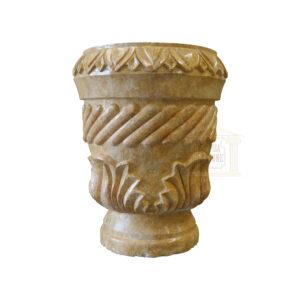 Matt Dark yellow Limestone Urn Garden 1 Smart Stone urns, planters, vases