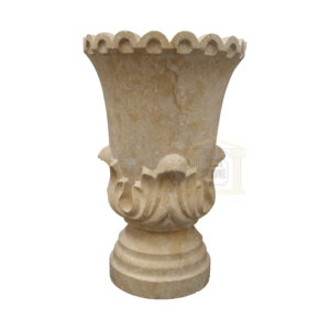 Matt Light Yellow Limestone Urn Garden Smart Stone urns, planters, vases 2020