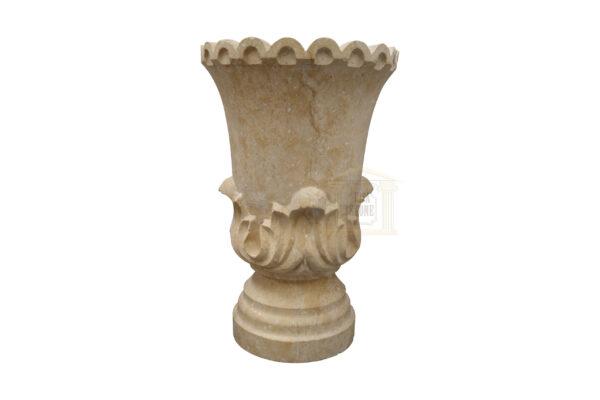Matt Light Yellow Limestone Urn Garden Smart Stone urns, planters, vases 2020