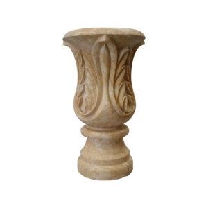 Matt Light Yellow Limestone Urn Garden Stone urns, planters, vases