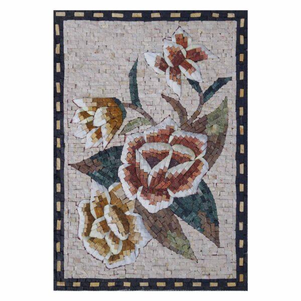Romantic Multicoloured Superb Bundle Marble Stone Mosaic Art