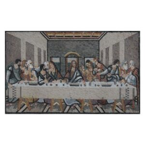 Rustic Finish Last Supper Marble Stone Mosaic Art
