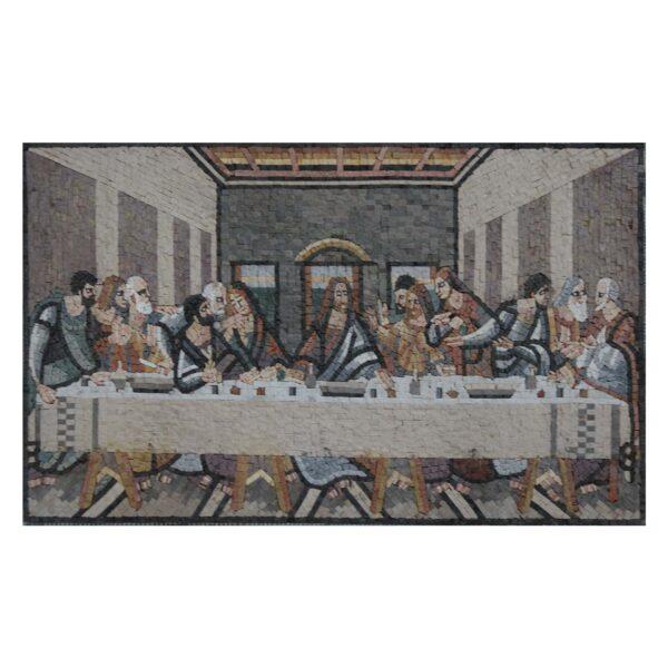 Rustic Finish Last Supper Marble Stone Mosaic Art