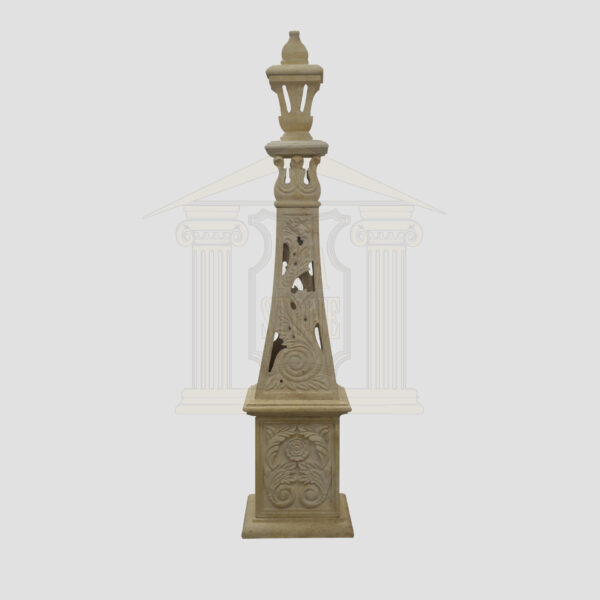 Hand carved yellow limestone tower Garden