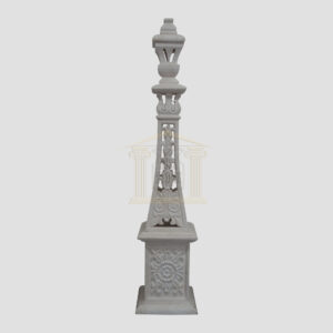 Hand carved white limestone tower Garden