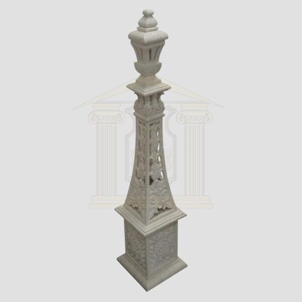 Hand carved white limestone tower Garden