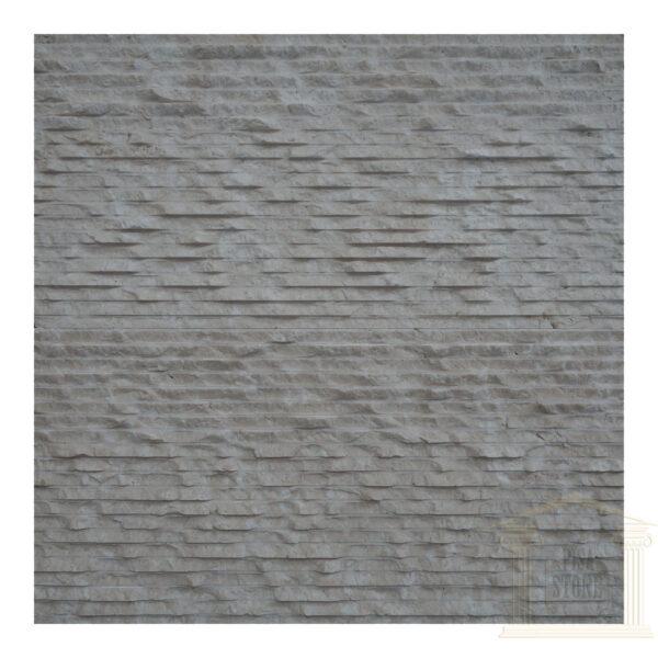 Split face White snow limestone Wall tiles