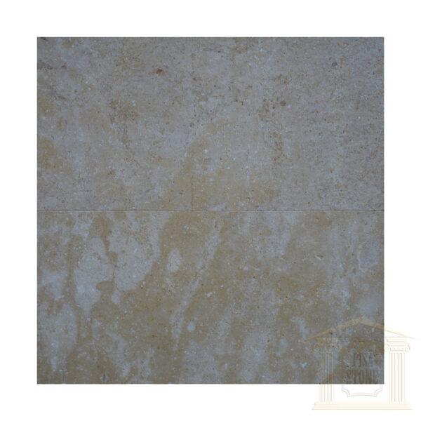 Brushed Antique finish light yellow limestone tiles