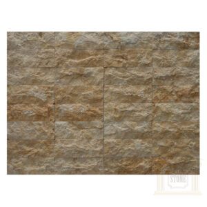 Dark yellow bricks Limestone wall cladding